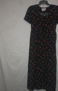 Maggie London Black Cherry Dress Sz 10